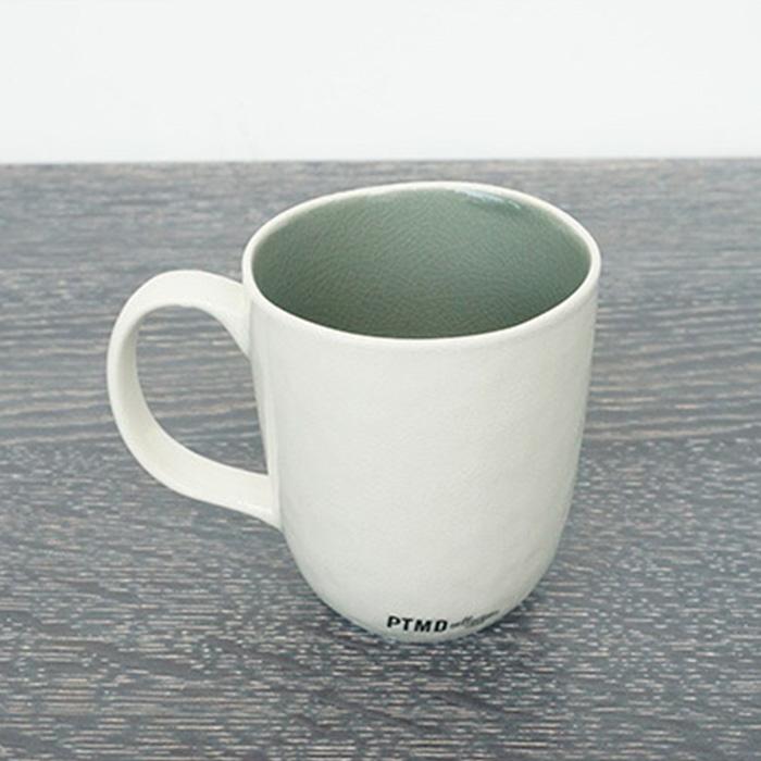 CANO セラムマグカップ ホワイト&グレー