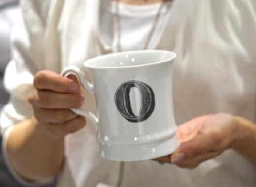 コーヒーカップ イニシャル入り O01
