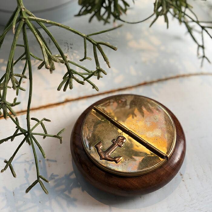 灰皿 ゴールド 木製枠