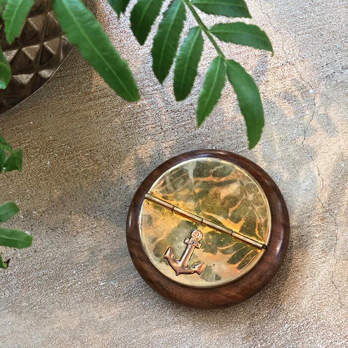 灰皿 ゴールド 木製枠01