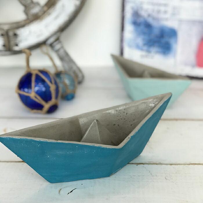 インテリアセメントボート M / ブルー01