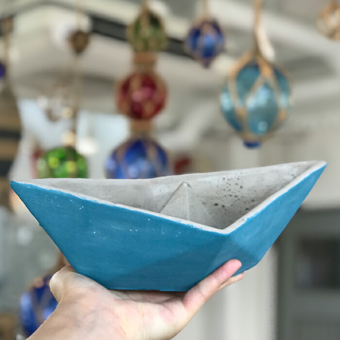 インテリアセメントボート M / ブルー03