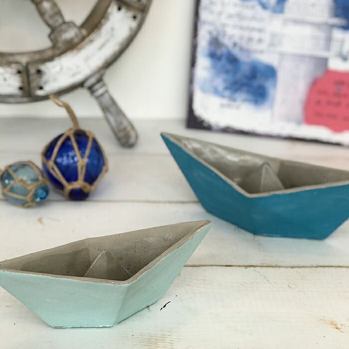 インテリアセメントボート M / ブルー04
