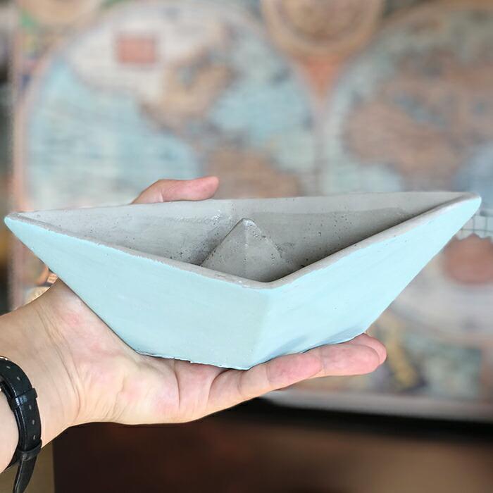 インテリアセメントボート S / ライトブルー01