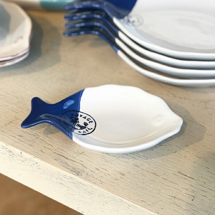 魚型プレート ブルー Sサイズ01