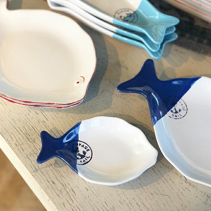 魚型プレート ブルー Sサイズ02