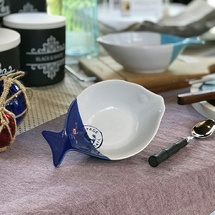 魚型プレート ブルー Mサイズ01