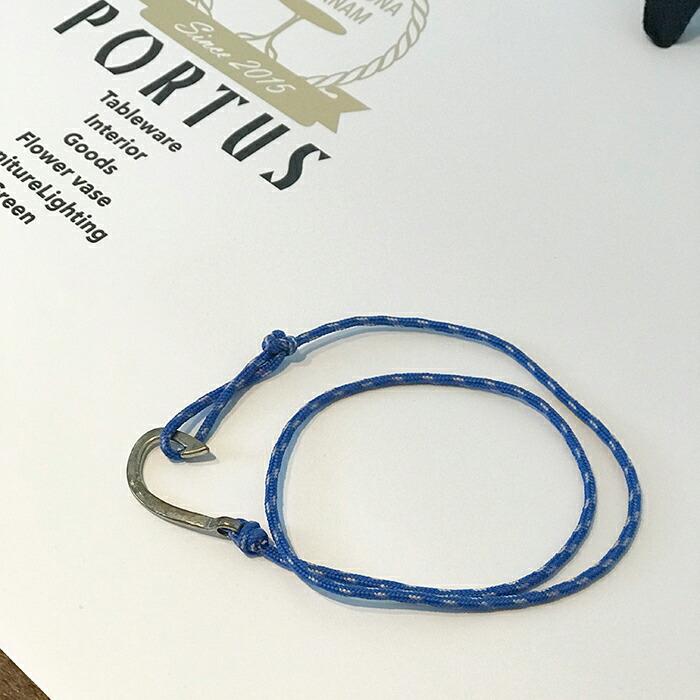 フックブレスレット ブルー01