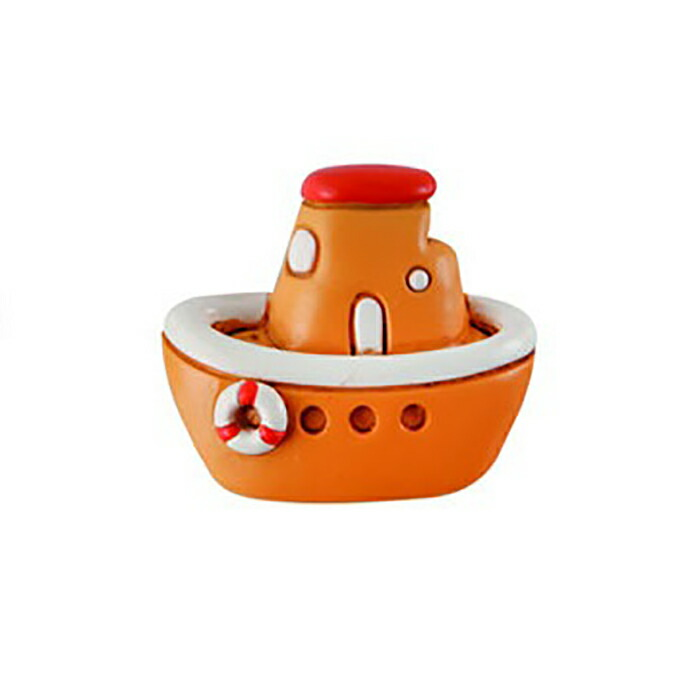 ウッドマグネット ボート / オレンジ