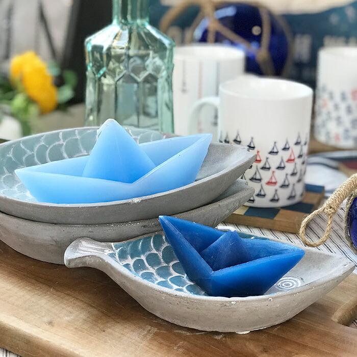 ボートキャンドル M/ブルー01