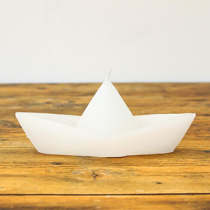 ボートキャンドル M/ホワイト