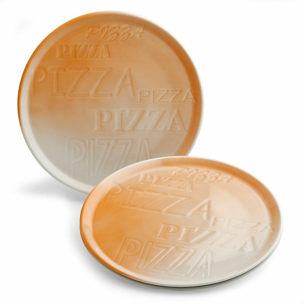 PIZZA ピザプレート オレンジ