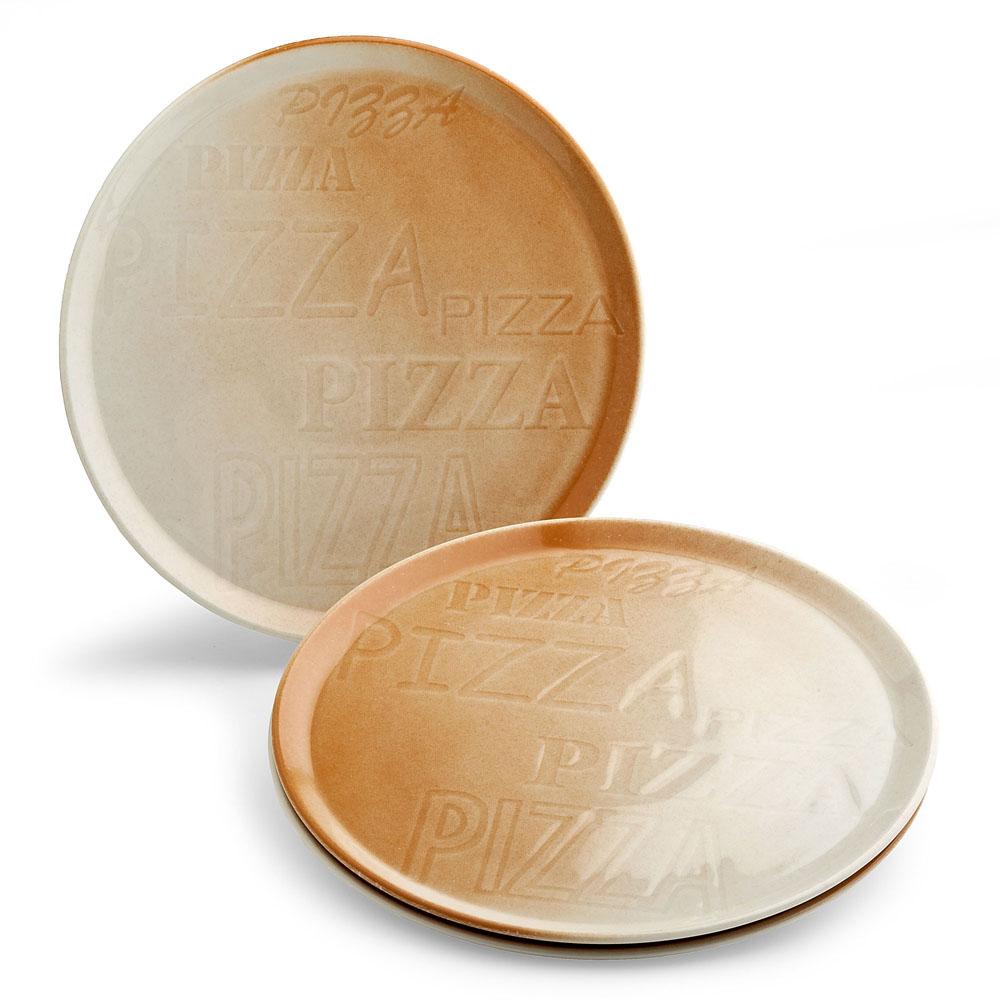 PIZZA ピザプレート ブラウン