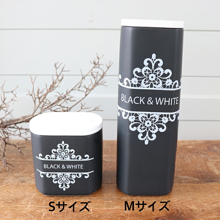 BLACK&WHITE レクタングルジャー Sサイズ03