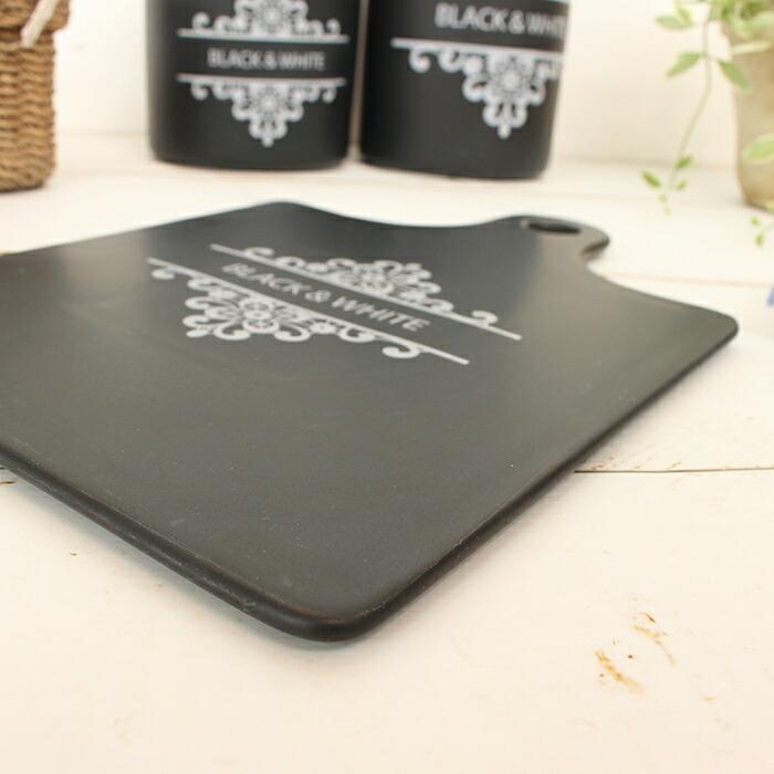 BLACK&WHITE カッティングボード Sサイズ05