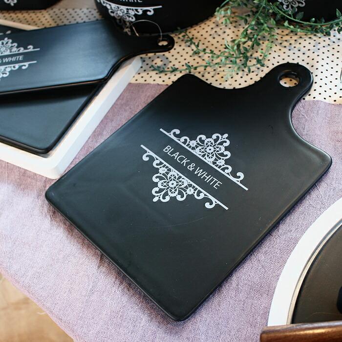 BLACK&WHITE カッティングボード Sサイズ07