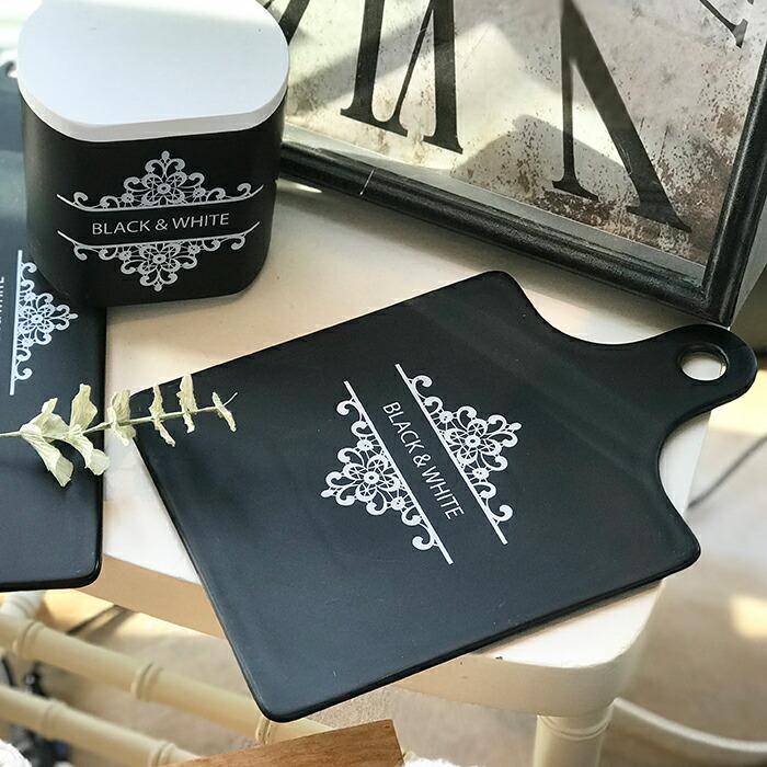 BLACK&WHITE カッティングボード Sサイズ08