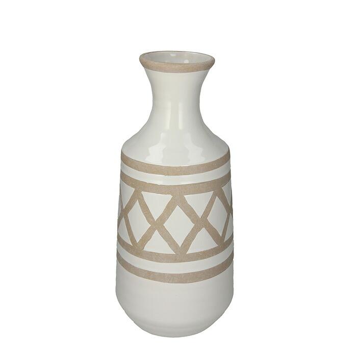花びん 花瓶 花器 FUNK クロス柄 ホワイト