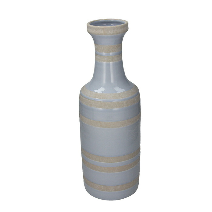 花びん 花瓶 花器 RAVE ライン柄 ブルー