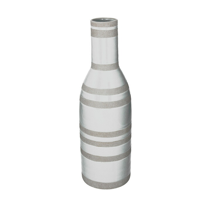 花びん 花瓶 花器 RAVE ライン柄 ホワイト