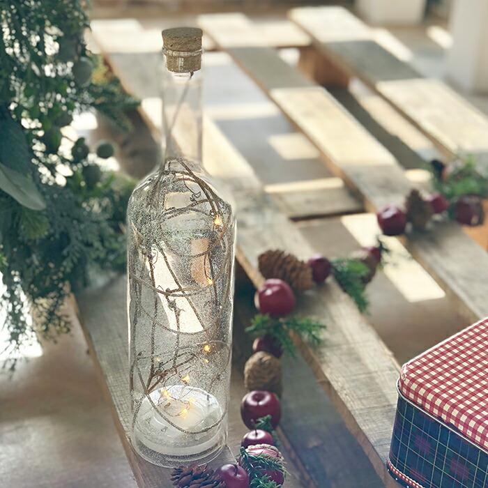 CHRISTMAS ライトボトル/ホワイト01