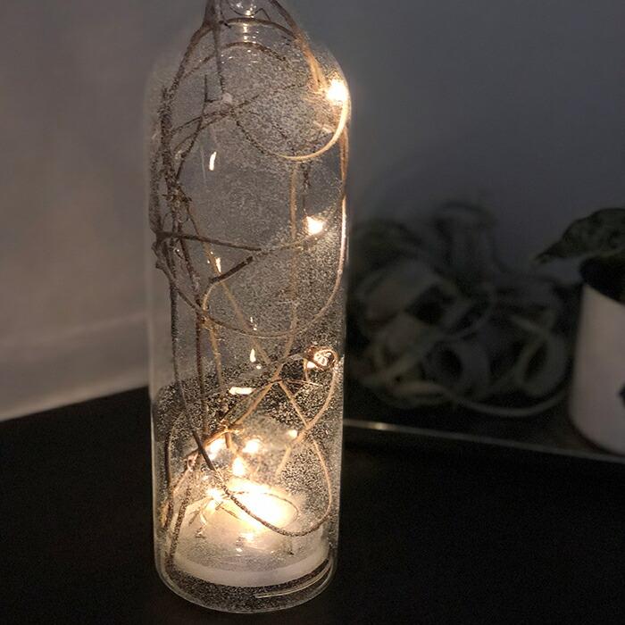 CHRISTMAS ライトボトル/ホワイト10