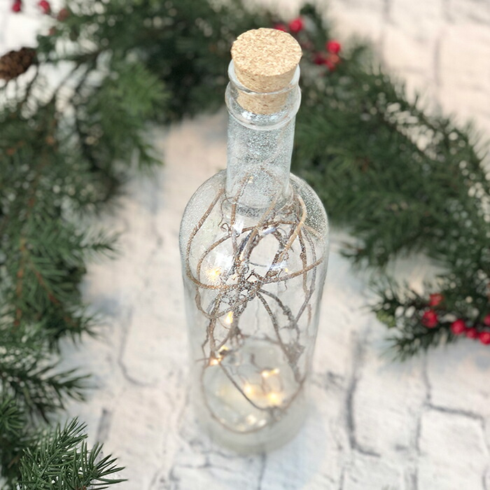 CHRISTMAS ライトボトル/ホワイト09