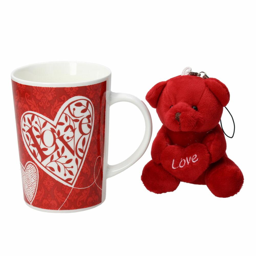 FEELING マグカップ&ベア レッド05