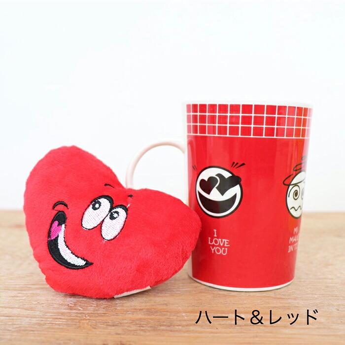 EMOTICON マグカップ ハート&レッド03