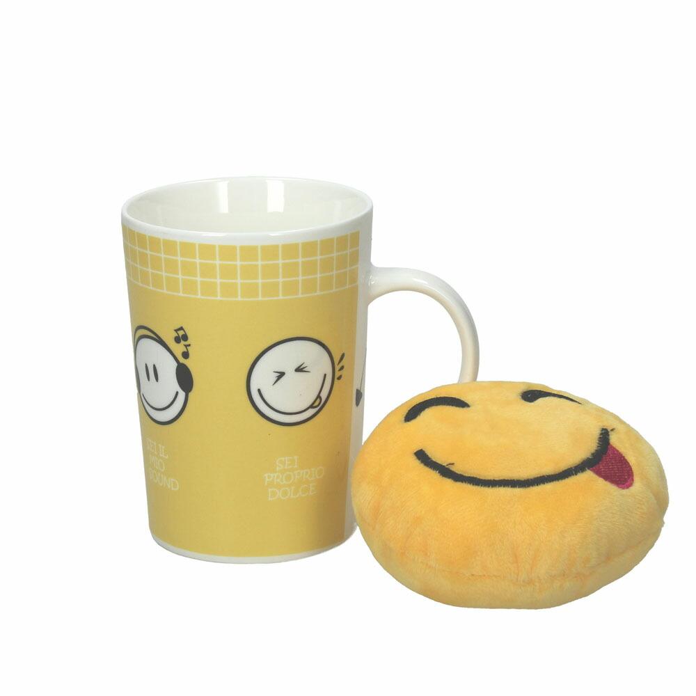 EMOTICON マグカップ スマイル&イエロー