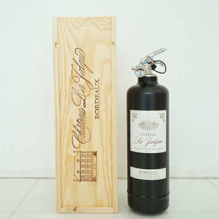 消火器オブジェ ワインボトルブラック01