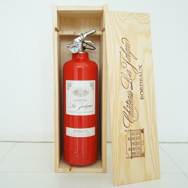消火器オブジェ ワインボトルレッド