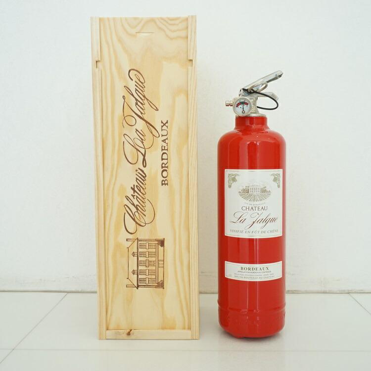 消火器オブジェ ワインボトルレッド01