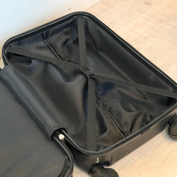 レザー張り スーツケース ブラック11