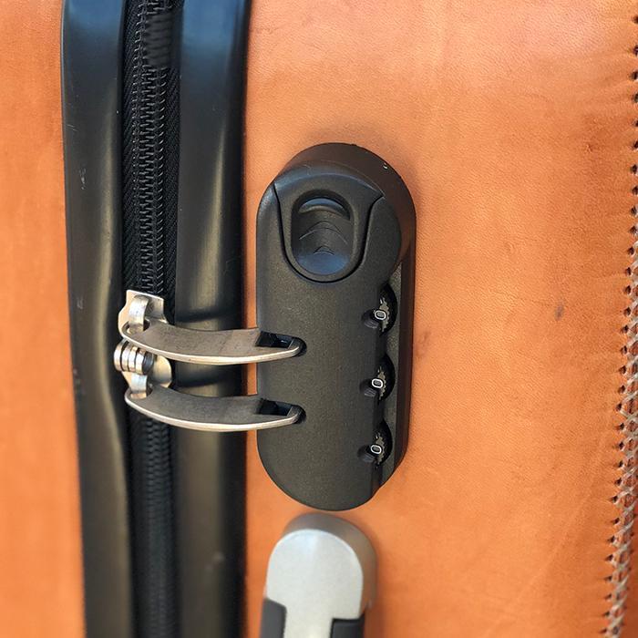 レザー張り スーツケース ブラック08