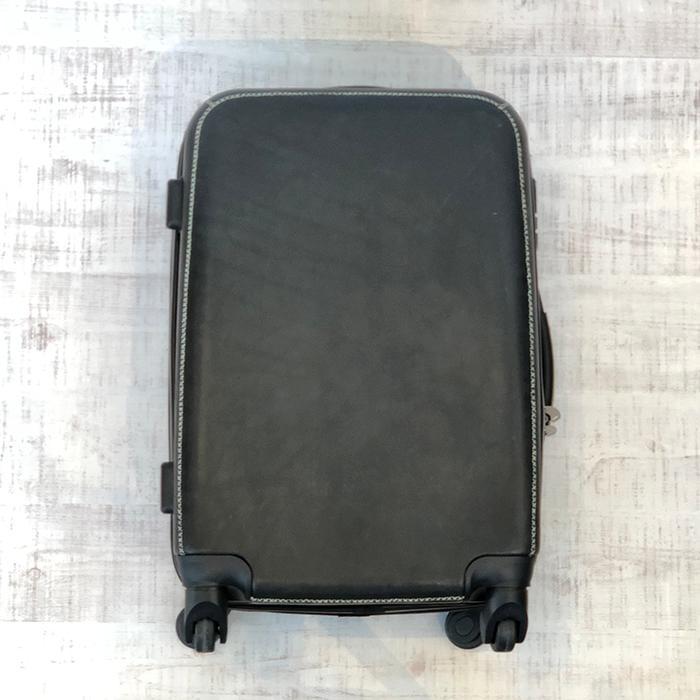 レザー張り スーツケース ブラック09