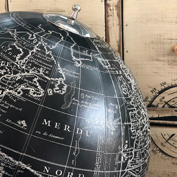 地球儀 ブラック01