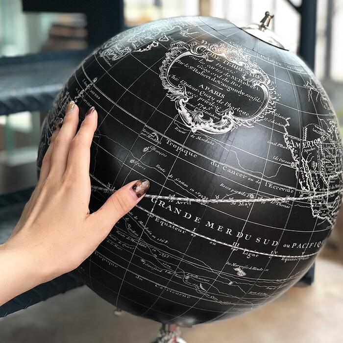 地球儀 ブラック03