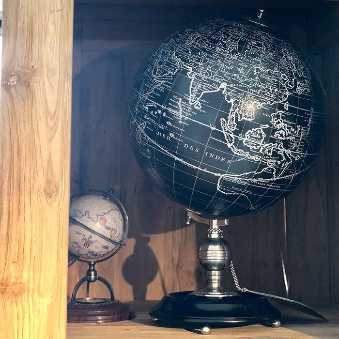 地球儀 ブラック06