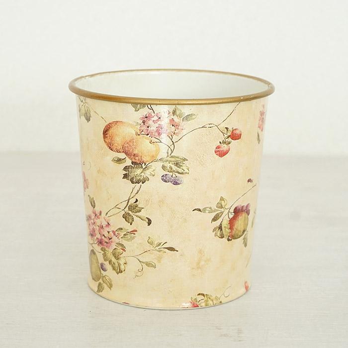 花びん 花瓶 花器 ポット フルーツ柄 ナチュラル