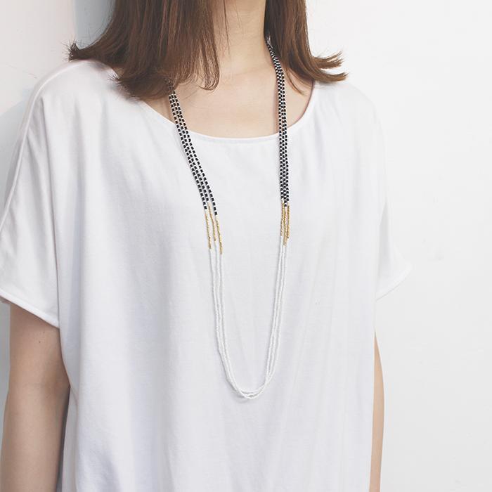 Endito Collection トリプルネックレス ホワイト10