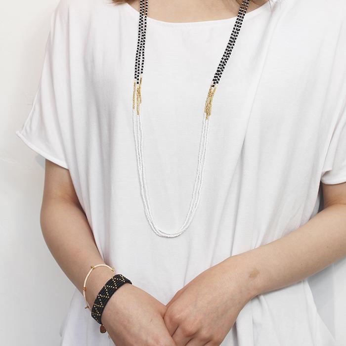 Endito Collection トリプルネックレス ホワイト13