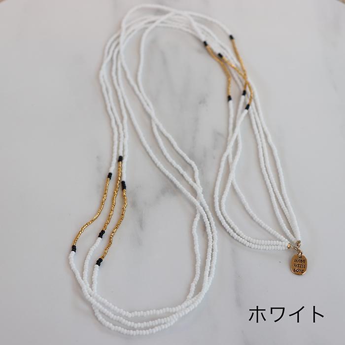 Endito Collection トリプルネックレス ホワイト14