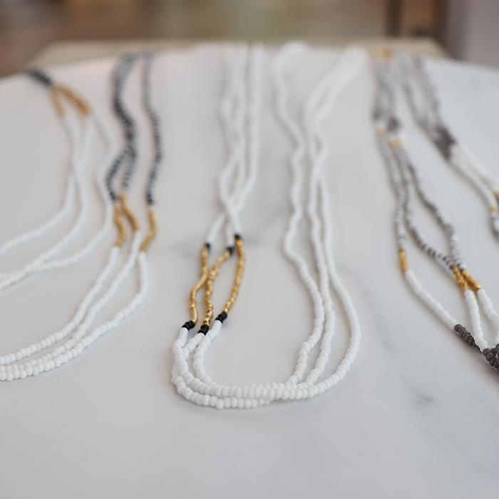 Endito Collection トリプルネックレス ホワイト06