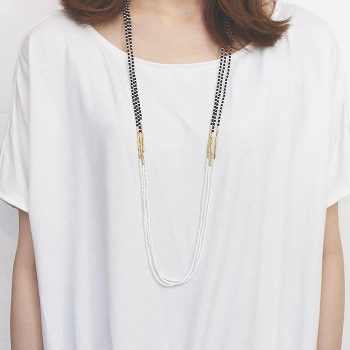 Endito Collection トリプルネックレス ホワイト09