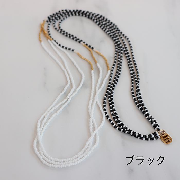 Endito Collection トリプルネックレス ブラック01