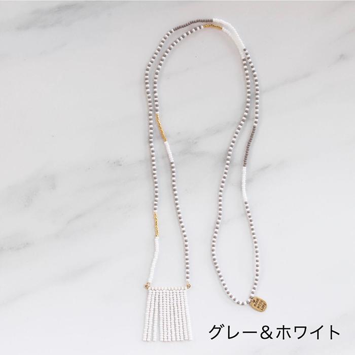 Porcupine Collection タッセルネックレス ゴールド&ブラック13