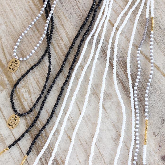 Porcupine Collection タッセルネックレス ゴールド&ブラック05