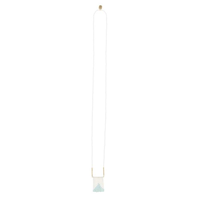 Porcupine Collection タッセルネックレス ターコイズ&ホワイト02