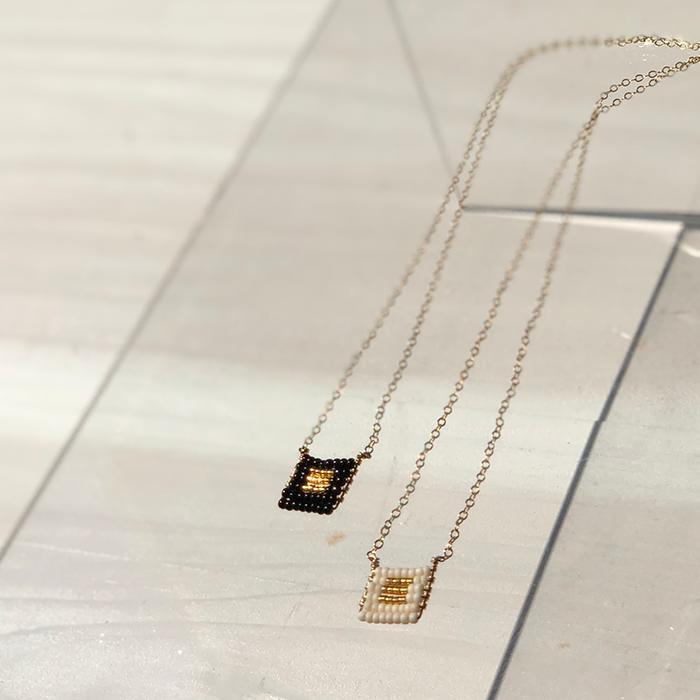 Kisongo Collection ブロックペンダントネックレス ブラック02